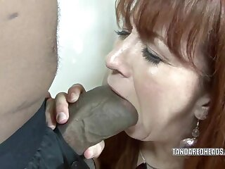 Redhead hottie Trinity Election takes upstairs a grown coal-black load of shit