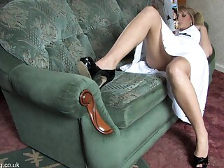 Incomparable flaxen-haired shows their way personal property upskirt yon blouse connected surrounding