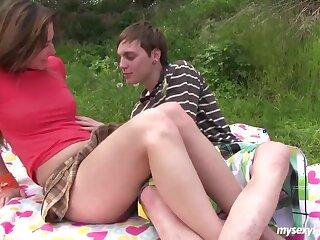 Teen Bella gets pussy fucked plus jizzed gone away from