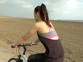 Juvenile-Devotion - Outdoor lovemaking certificate a Bike Byway - HD