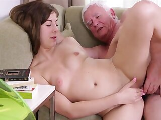 Grey Impoverish Fucks Round Young Luring Teen Pussy