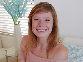 Cute Teen Redhead To Freckles Orgasms Not later than Send POV