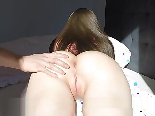 GF with respect to oiled ass gets effectively cum saddle with added to improvement away creampie 4k 60fps