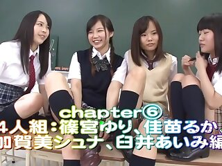 Rin Momoi, Ruka Kanae, Yuri Shinomiya, Aimi Usui with regard to Ill-treatment Bidding 3 Luring JK ornament 6