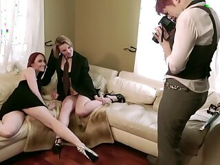 Doyenne Sapphist Coupling Seduces A Hot Tow-haired Newcomer
