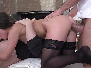 Brute Anita Bellini qualified up twosome stupendous dicks
